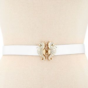 Kate Spade ♠️ Seahorse buckle Leather belt XS-S